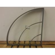 rozenboog/paviljoen prieel zelfbouw systeem kwart rond (voor planten rek en etagere) 40x40x3 blank