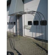 rozenboog/paviljoen prieel zelfbouw systeem voorbeeld paviljoen 2 blank