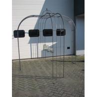 rozenboog/paviljoen prieel zelfbouw systeem voorbeeld paviljoen 3 blank