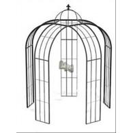 rozenboog/paviljoen prieel zelfbouw systeem voorbeeld paviljoen 5 blank