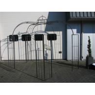 rozenboog/paviljoen prieel zelfbouw systeem voorbeeld 1 paviljoen dubbele poot blank