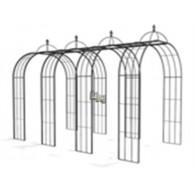rozenboog/paviljoen prieel zelfbouw systeem voorbeeld tunnelrozenboog / loofgang  2 blank