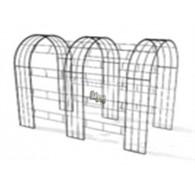 rozenboog/paviljoen prieel zelfbouw systeem voorbeeld tunnelrozenboog / loofgang  3 blank