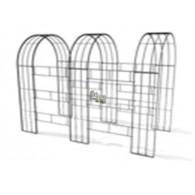 rozenboog/paviljoen prieel zelfbouw systeem voorbeeld tunnelrozenboog / loofgang 4 blank