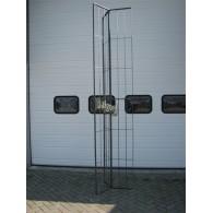 rozenboog/paviljoen prieel zelfbouw systeem voorbeeld rek driehoek los 3 blank