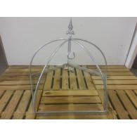 rozenboog/paviljoen prieel zelfbouw systeem koepel vijfkant 62x62x48 gegalvaniseerd
