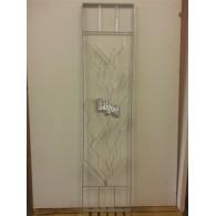 rozenboog/paviljoen prieel zelfbouw systeem staander 40x165x3 gegalvaniseerd met bloemdecoratie