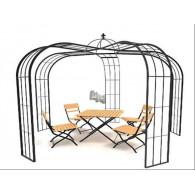 rozenboog/paviljoen prieel zelfbouw systeem voorbeeld paviljoen 7 gegalvaniseerd
