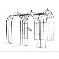 rozenboog/paviljoen prieel zelfbouw systeem voorbeeld tunnelrozenboog / loofgang  1 gegalvaniseerd