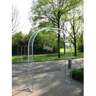 rozenboog/paviljoen prieel zelfbouw systeem voorbeeld 1 rozenboog dubbele poot gegalvaniseerd