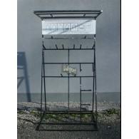 display (leeg) voor rozenboog/paviljoen zelfbouw systeem met dak blank