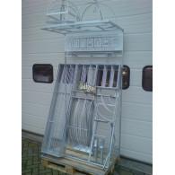 display gevuld voor rozenboog/paviljoen zelfbouw systeem met dak gegalvaniseerd