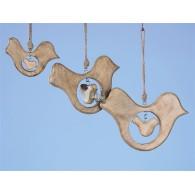 hanger hout vogel  breed 15 cm !!!