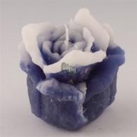 kaars roos klein blauw op=op
