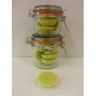 schijfjes van 100% koolzaadwas voor geurbrander 5 stuks in wekpot appel