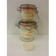 schijfjes van 100% koolzaadwas voor geurbrander 5 stuks in wekpot vanille