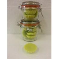 schijfjes van 100% koolzaadwas voor geurbrander 10 stuks in wekpot appel