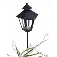 lantaarn bozen zwart metaal hoog 86 cm op steker