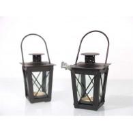 lantaarn mini aba zwart hoog 12 cm.