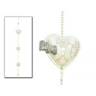 hanger 3x hart met klokje grijs lang 90 cm op=op