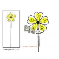 regenmeter bruine bloem geel fluorescerend acryl 110x24 cm op=op