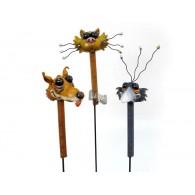 tuinsteker grappige dieren 3 assortiment design metaal en polystone op=op