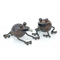 kikker in metaal 2 assortiment design hoog 15 cm
