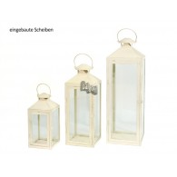 lantaarn set van 3 stuks Oria metaal creme