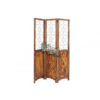 paravent ornament hout en metaal bruin hoog 1.7 meter op=op