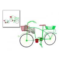 fiets als bloembak groen rood hoog 50 cm