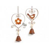 hanger bloem en vogel in hart met klokje 2 assortiment design