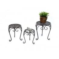 bijzet tafels set van 3 stuks cadice metaal rond 25/30 en 35 cm