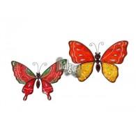 muurdecoratie vlinder metaal 2 assortiment design 26x34 cm
