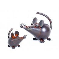 muis in metaal 10 cm