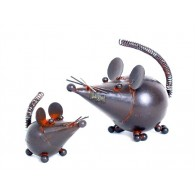 muis in metaal mini 5 cm