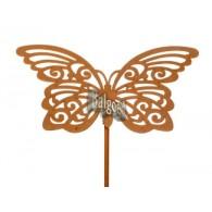 steker roest vlinder (12x19) hoog 1.04 meter op=op