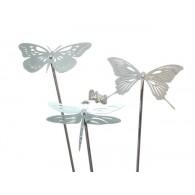 tuinsteker rvs vlinder en libelle 100x15 cm 2 assortiment design op=op