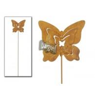 steker roest vlinder (12x14) hoog 70 cm op=op