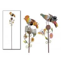 steker vogel Shaky met beweegbare kop metaal 2 assortiment design op=op