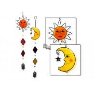 hanger windgong zon en maan van metaal en acryl 2 assortiment design op=op