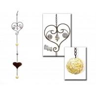 hanger hart van metaal en bal van polystone lang 107 cm op=op