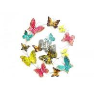 muurdecoratie vlinders bont 59x72 cm