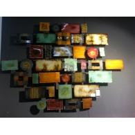muurdecoratie Colore metaal 91x126 cm