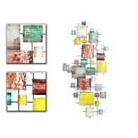 muurdecoratie Gebo metaal 64x152 cm (week 31 weer leverbaar)