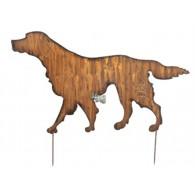 steker hond hoog 38 cm op=op