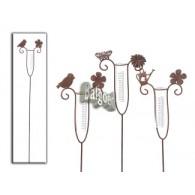 regenmeter bloem 3 assortiment design metaal hoog 120 cm