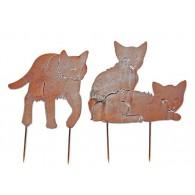 steker katten duo hoog 30 cm op=op