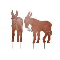 steker ezel smal hoog 77 cm