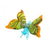 vlinder van glas bont gekleurd breed 8.50 cm