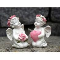 engel met hart en roos polystone 2 assortiment design
